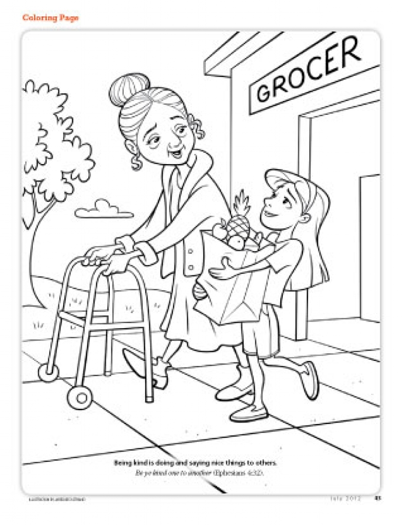 787x1024 Nice Coloring Pages Of Helping Others Newyork Rp Com