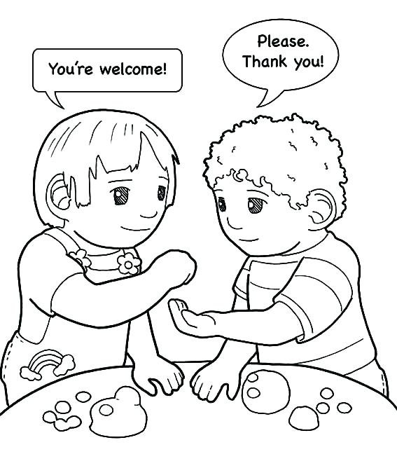 567x648 Sharing Coloring Page Children Sharing Coloring Pages Page