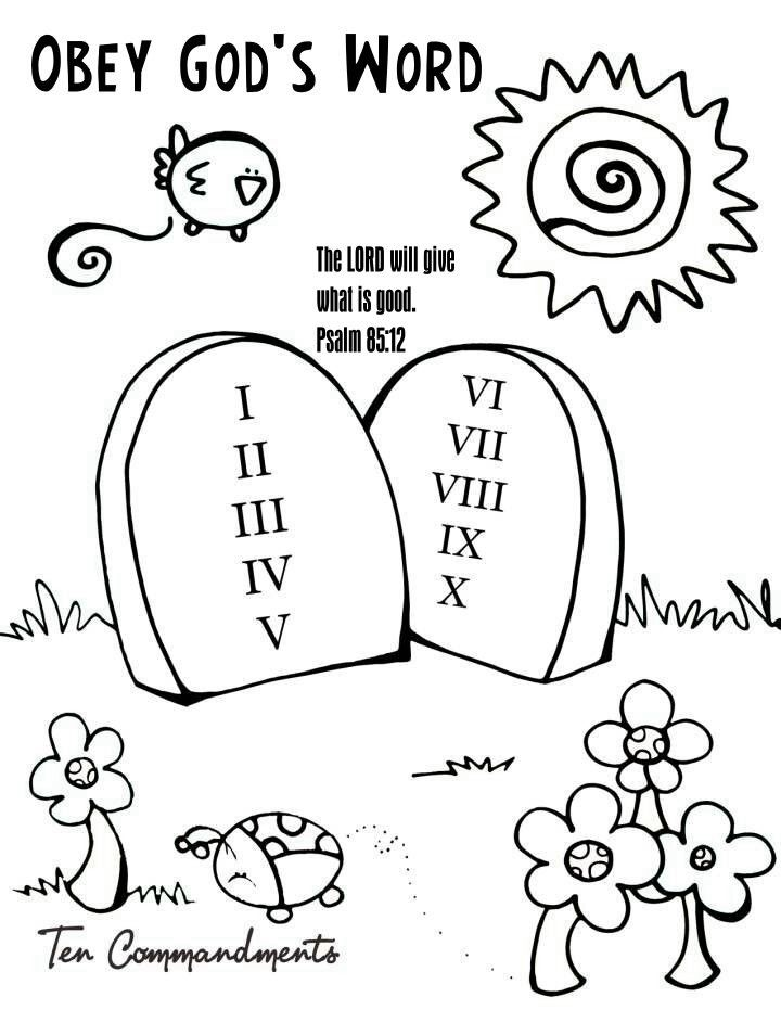 720x931 Obeying Coloring Pages Commandments