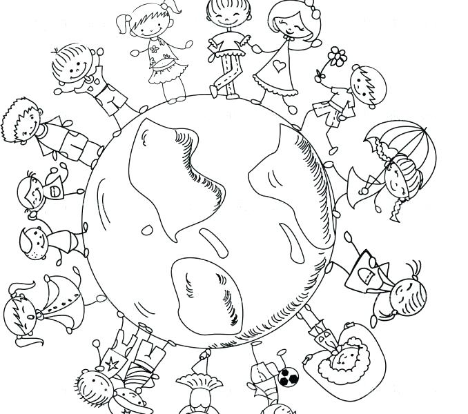 678x600 Children Around The World Coloring Pages World Coloring Pages
