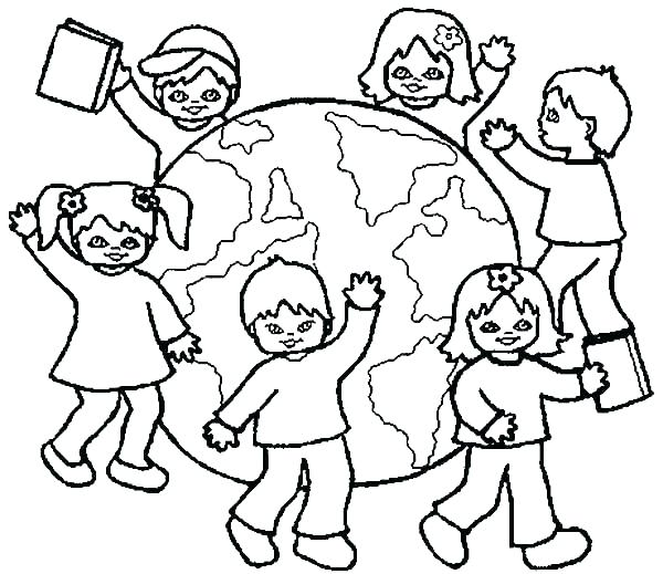 600x519 Children Of The World Coloring Pages Vanda
