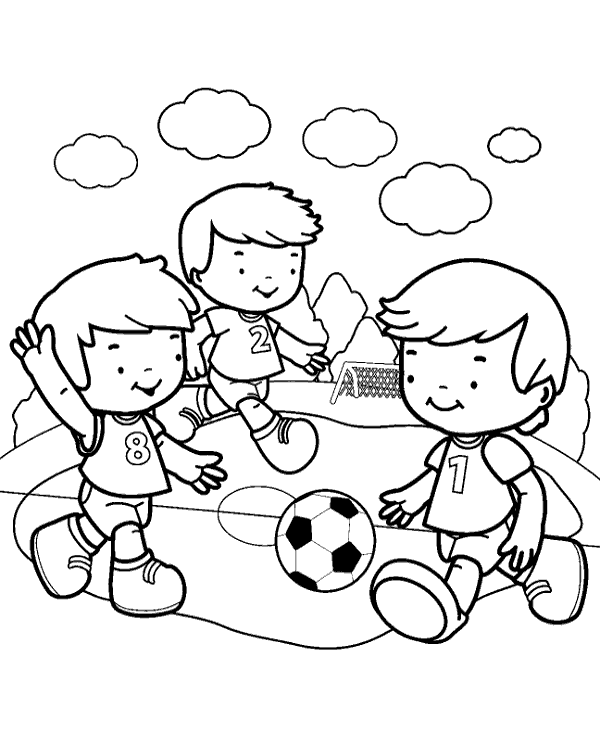 600x740 Football Match Coloring Page To Print Or Download For Free