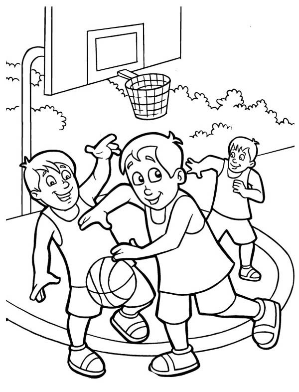 600x786 Kids Playing Coloring Pages