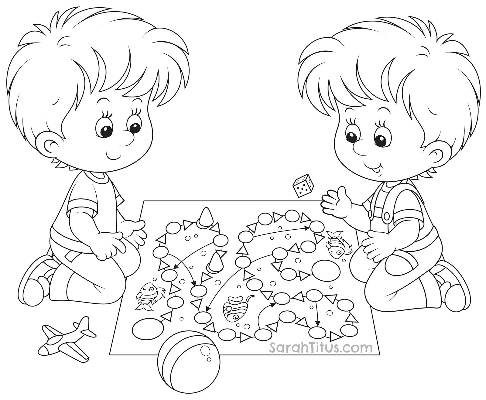 1600x1317 Kids Playing Coloring Pages Children Playing Colouring Pages