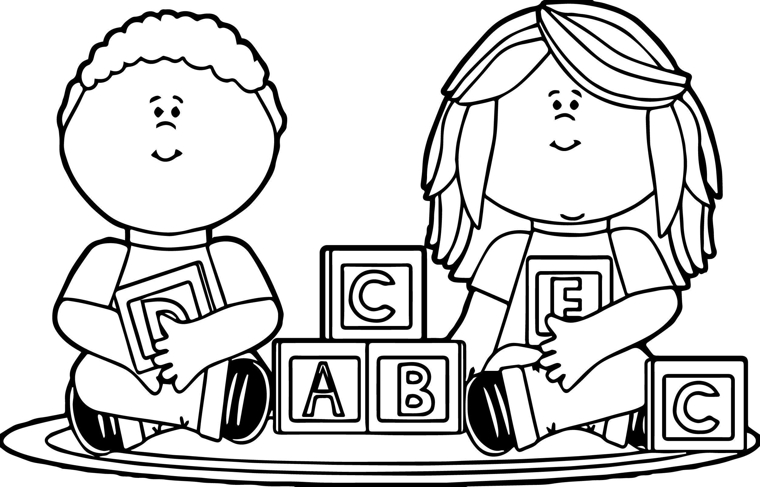 2506x1606 Kids Playing Coloring Pages Kids Playing With Blocks Kids Coloring