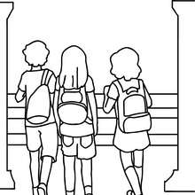 220x220 Kids Playing Coloring Pages