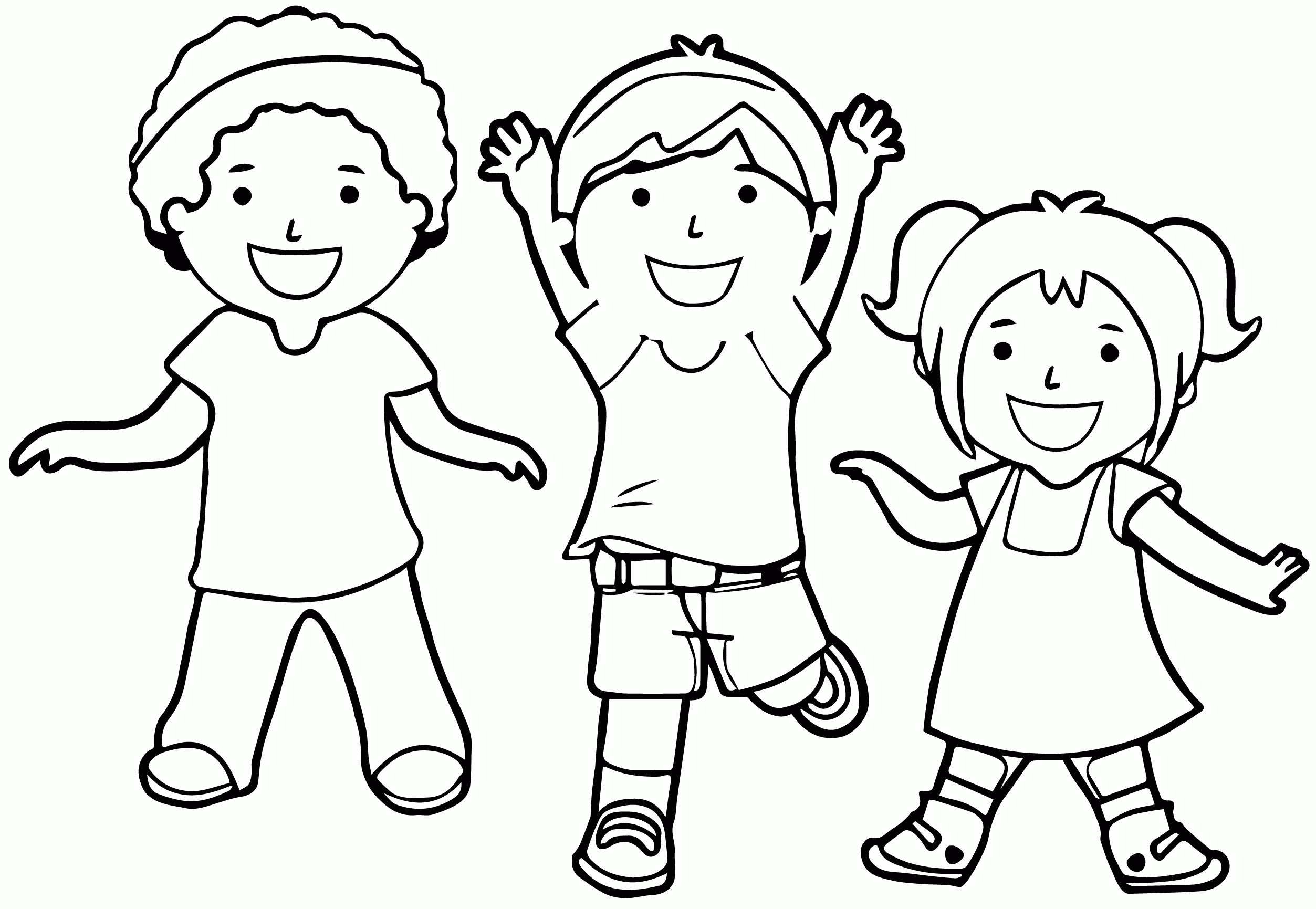 2506x1731 Childrens Coloring Pages Fresh Coloring Pages Children Playing