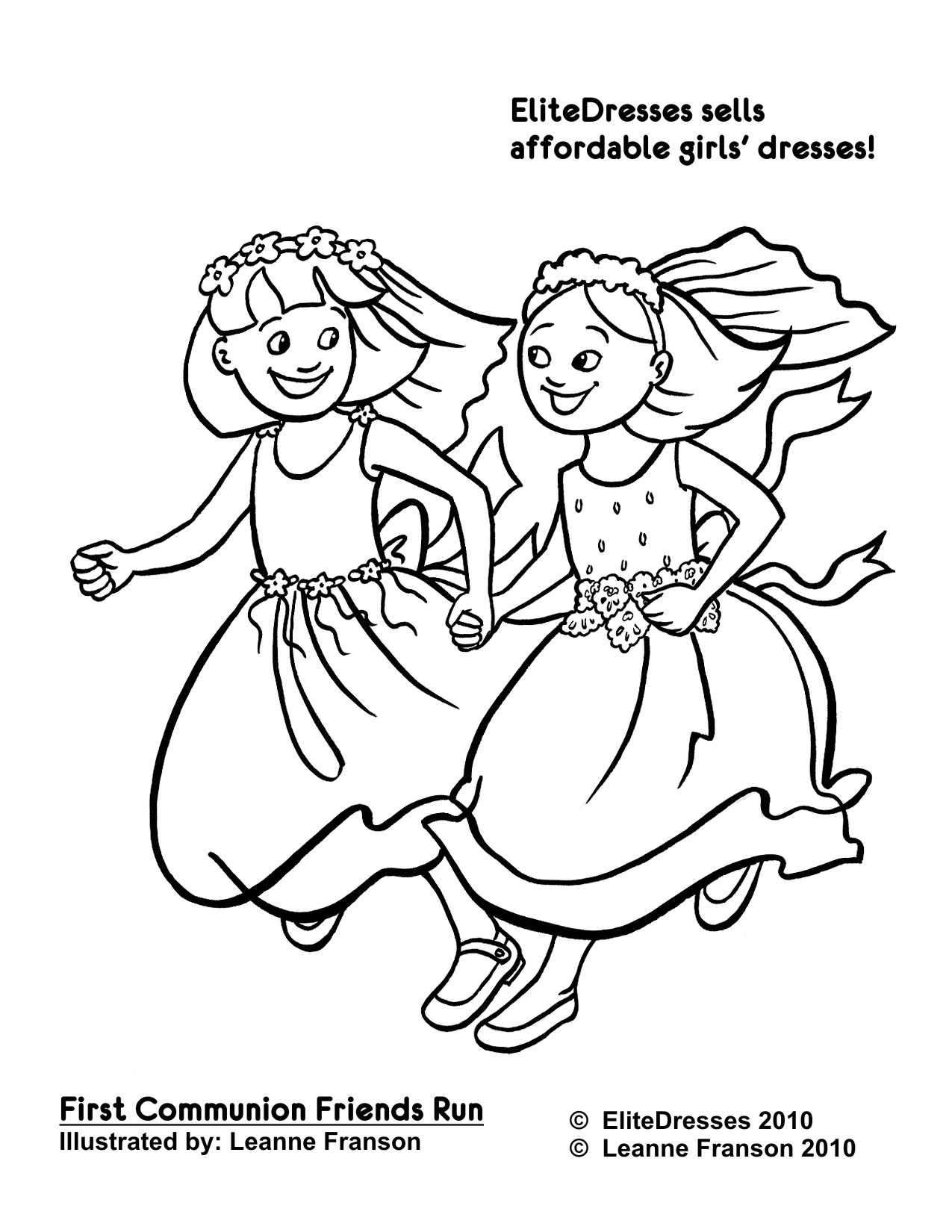 1275x1650 Hurry Holy Communion Coloring Pages For Kids First Dress Free