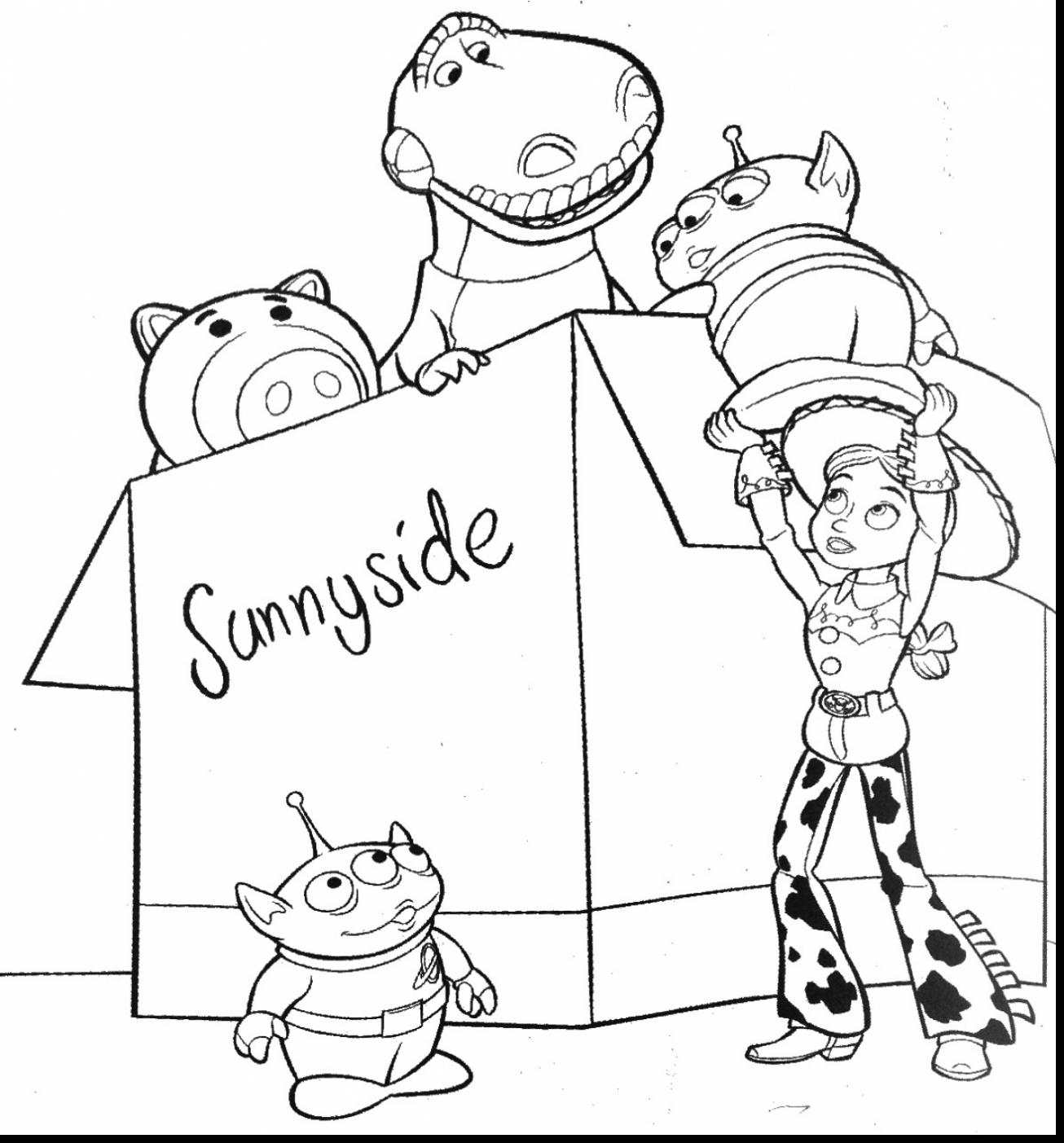 1306x1403 Pretty Ideas Woody Coloring Pages Toy Story Running Friends Free