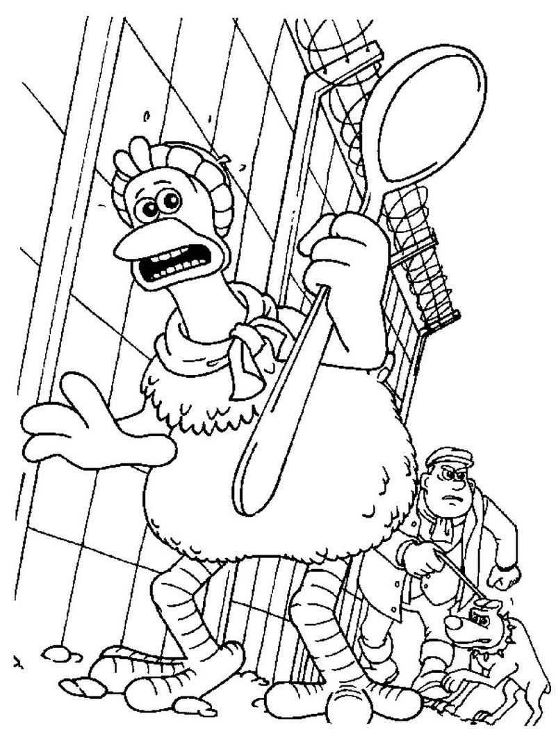 800x1055 Printable Chicken Run Coloring Pages Animation Series Coloring
