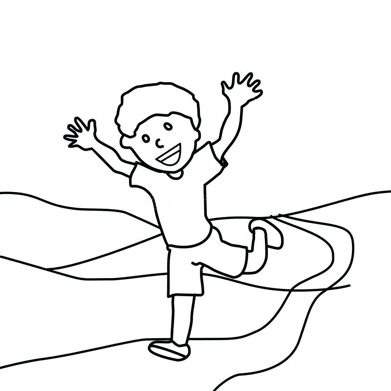 800x800 Running Coloring Pages Children Running To School Coloring Page