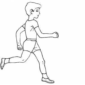 300x300 Sportsman Running Coloring Sheet