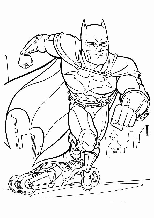 595x842 Best Batman Coloring Pages Images On Coloring Books
