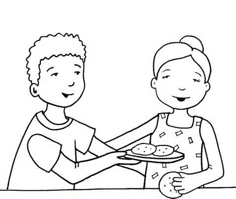 480x405 Good Sharing Coloring Page For Coloring Pages For Kids Online