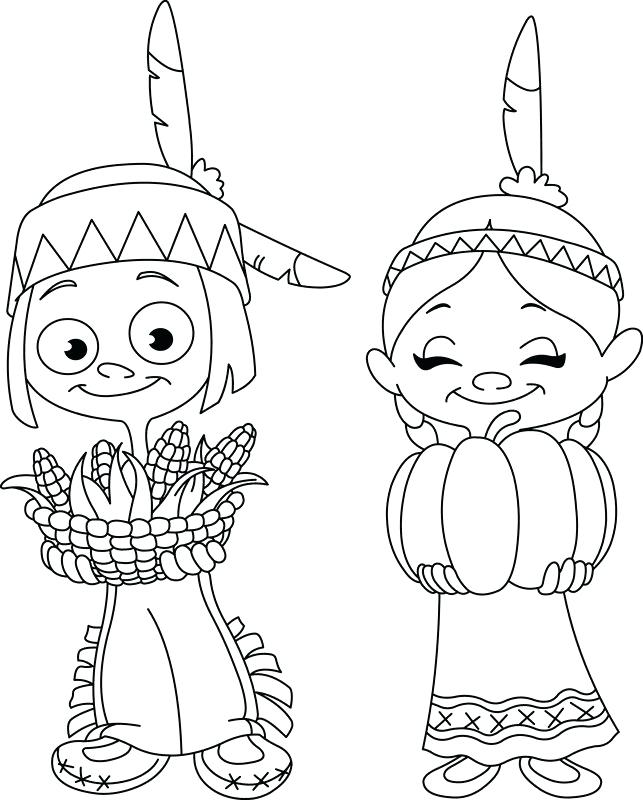 643x800 Interesting Sharing Coloring Page Outlined Children Sharing Food