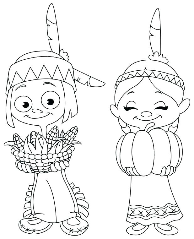 618x761 Pilgrim And Indian Coloring Pages Thanksgiving Coloring Pages