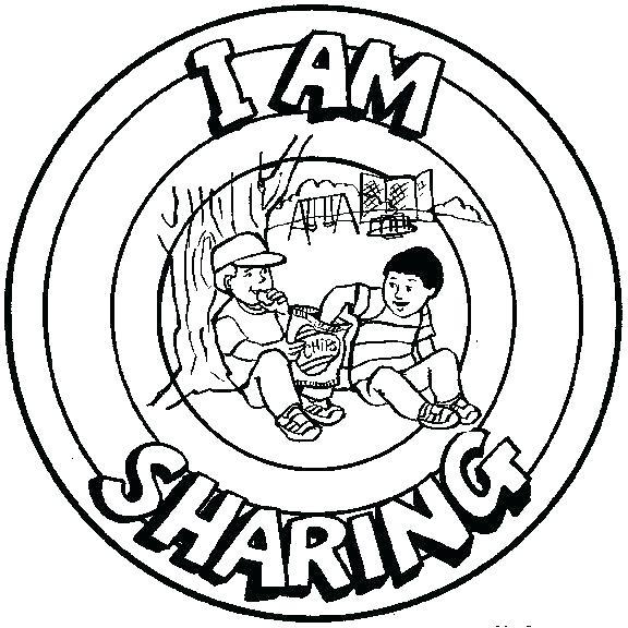576x576 Sharing Coloring Page Ng Pages Free On Pics Of Children Sharing Ng