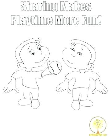 360x443 Sharing Coloring Page Sharing Coloring Pages And Children Coloring
