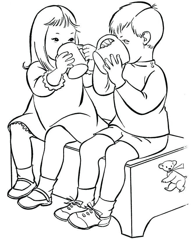 670x820 Sharing Coloring Page Sharing Coloring Pages Coloring Pages
