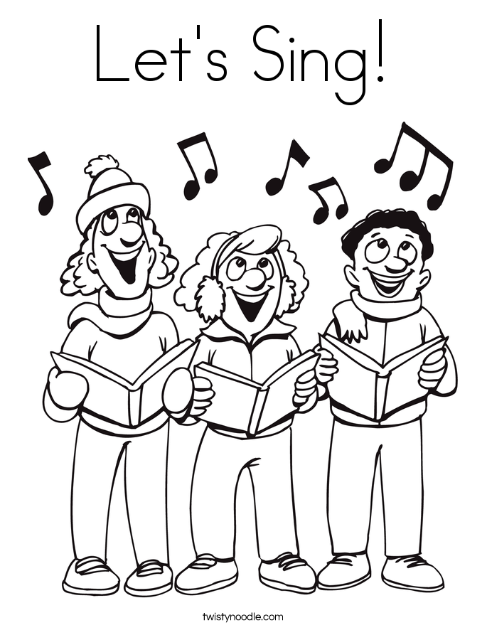685x886 Let's Sing Coloring Page