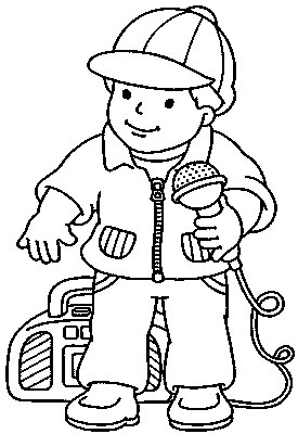 275x400 Little Boy With Microphone Sings Kids Coloring Pages Gtgt Disney
