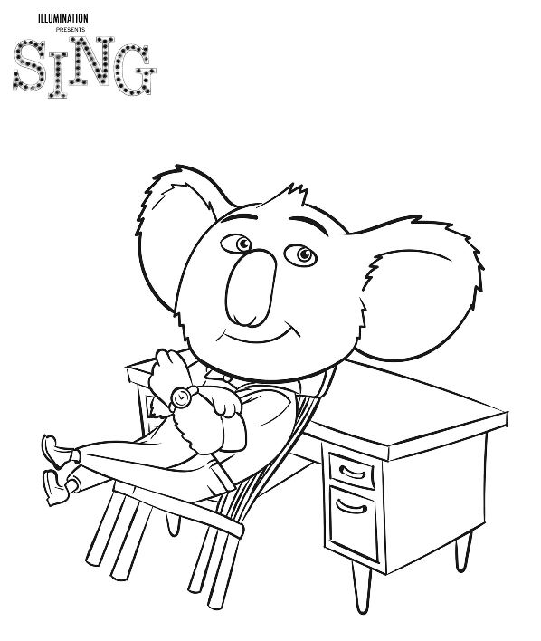 598x708 Sing Coloring Pages