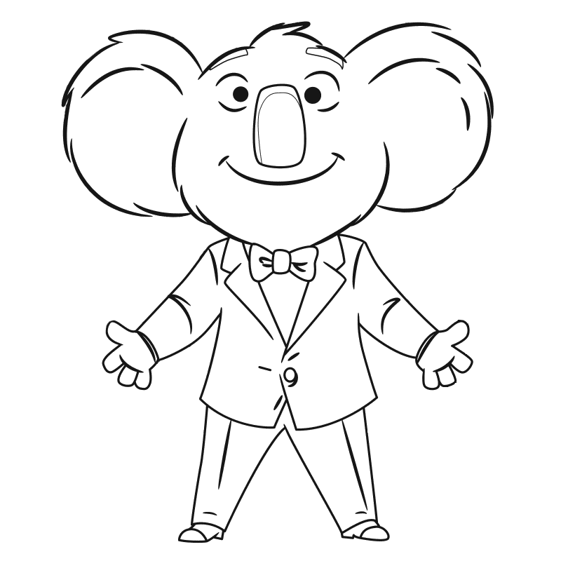 800x800 Sing Movie Coloring Pages