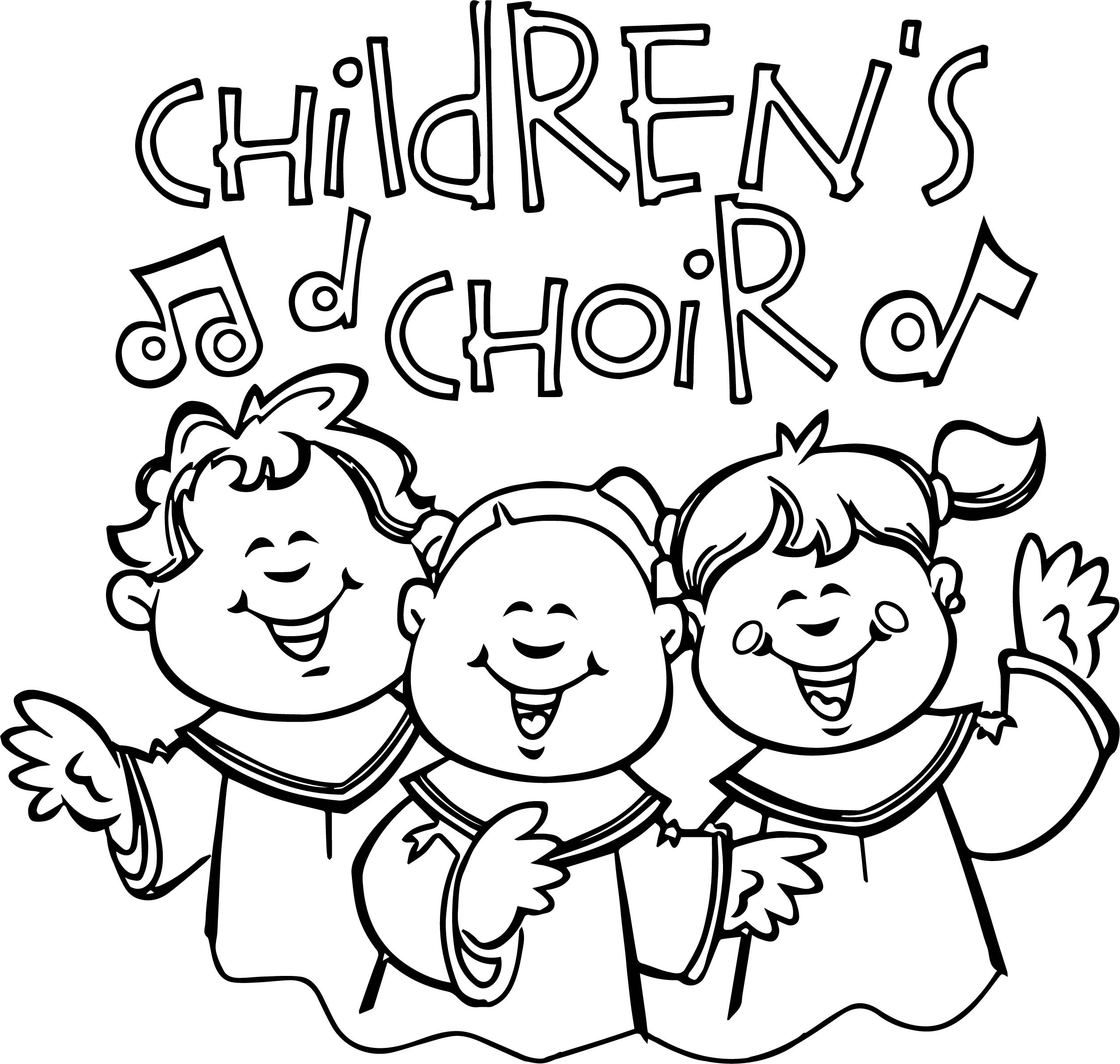 2505x2380 Children Coloring Pages Elegant Children Singing In Church