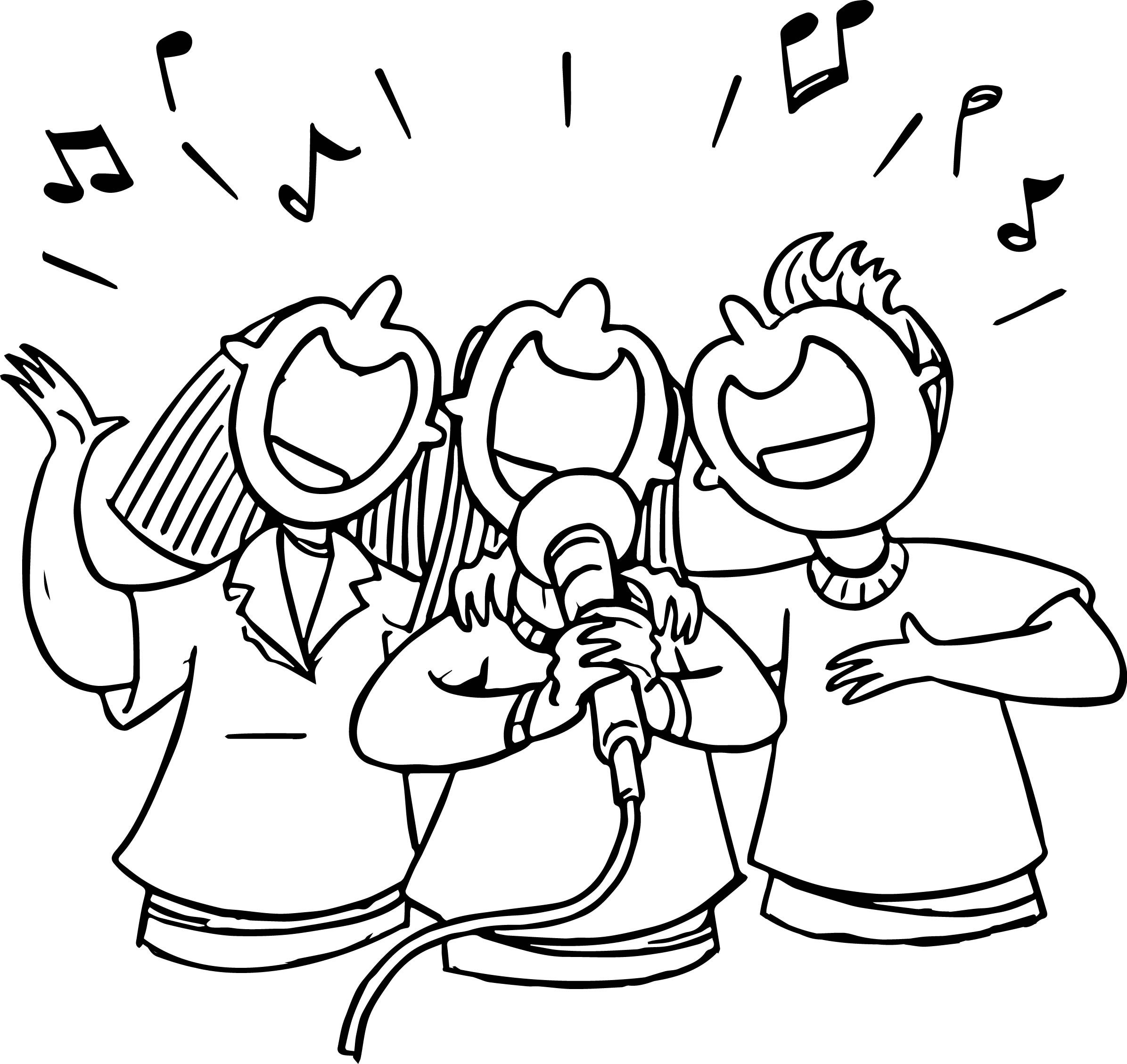 2391x2257 Singing Coloring Pages Acpra