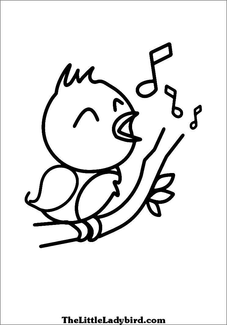 744x1065 Trend Coloring Page Of A Bird Preschool To Pretty Bird Coloring