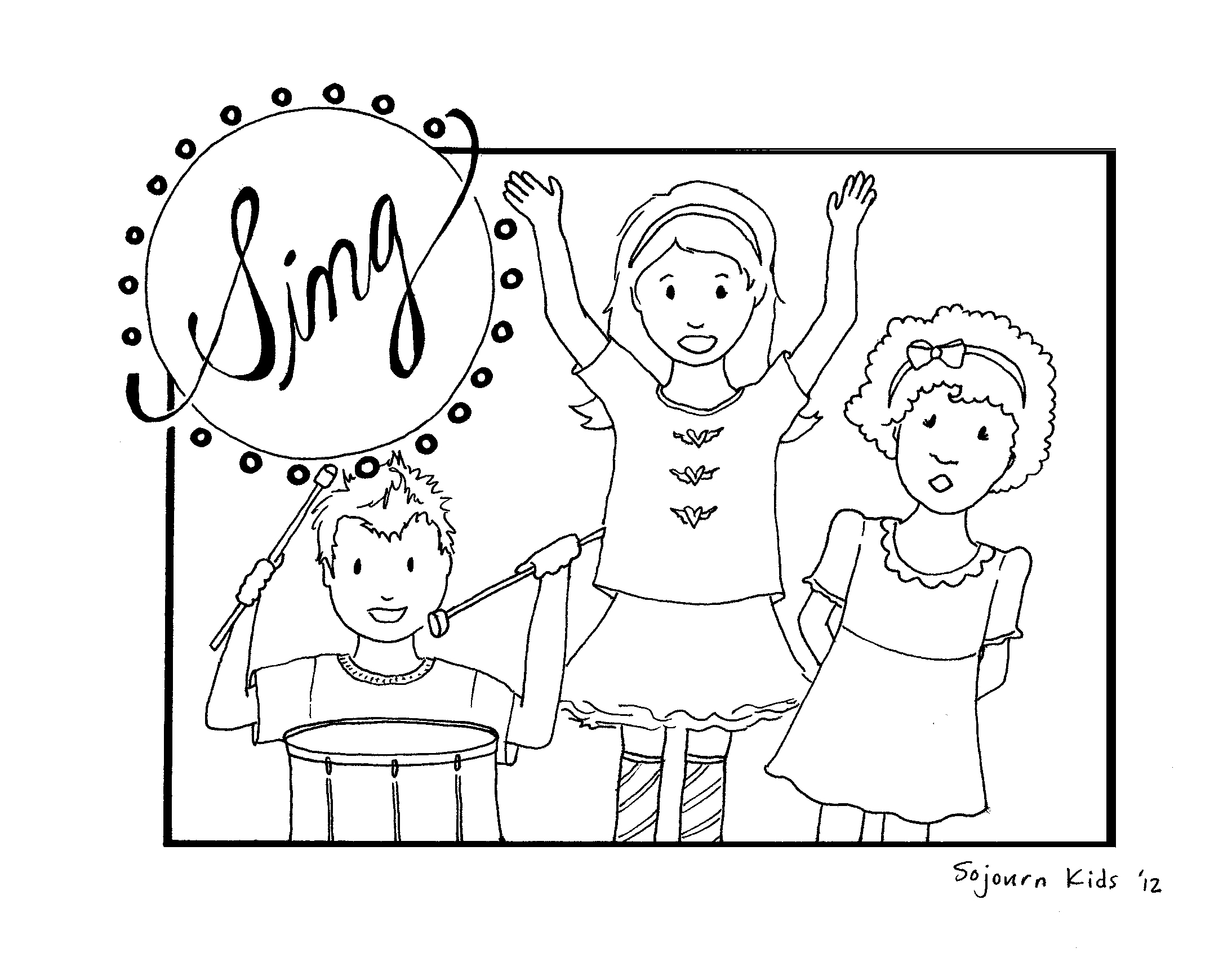 2187x1692 Singing To God Coloring Pages