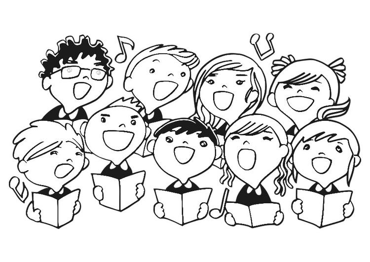 750x531 Coloring Page Children's Choir Children's Choir Choir