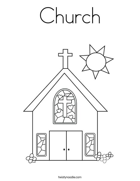 468x605 Church Coloring Page