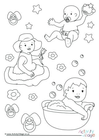 320x452 Coloring Pages Of Babies Babies Colouring Page Coloring Pages