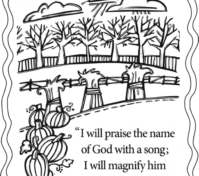 678x600 Childrens Church Coloring Pages