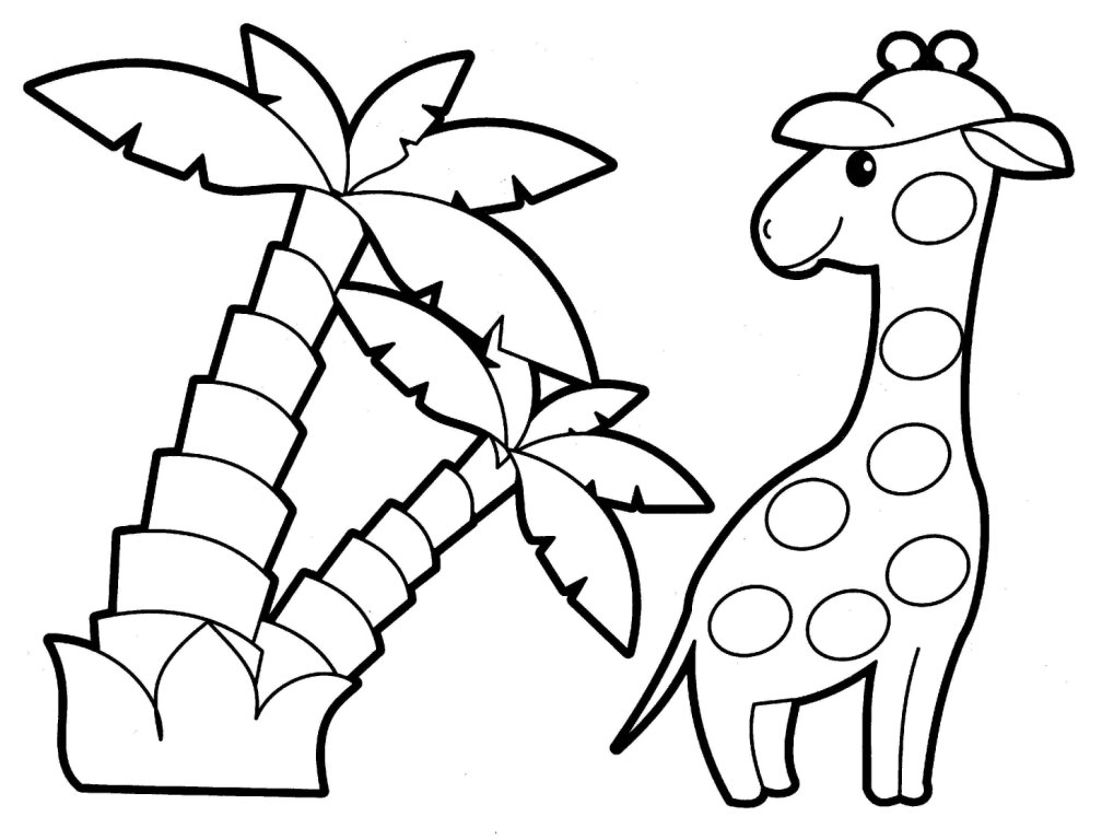 1008x768 Creative Idea Animals Coloring Pages Animal Colouring For Children