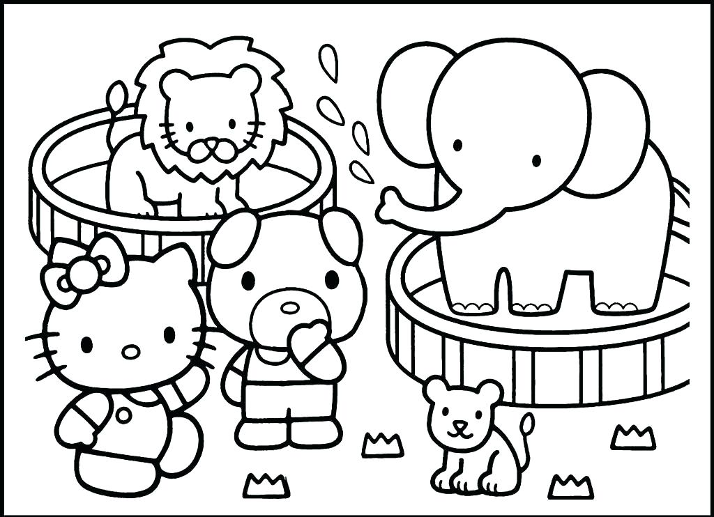1024x742 Zoo Animals Coloring Page Zoo Animal Coloring Pages And Animals