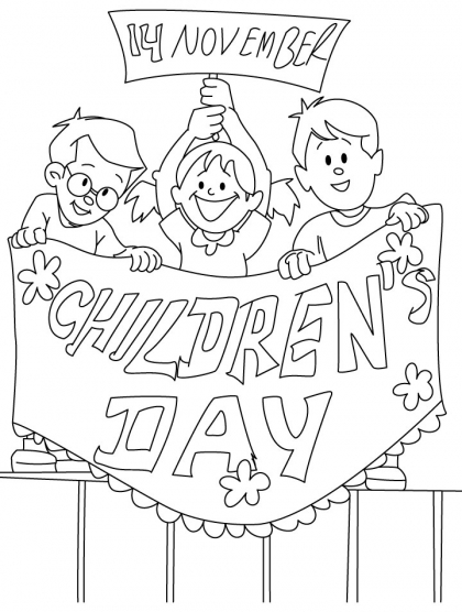 420x556 November Children Day Coloring Pages Coloring Pages