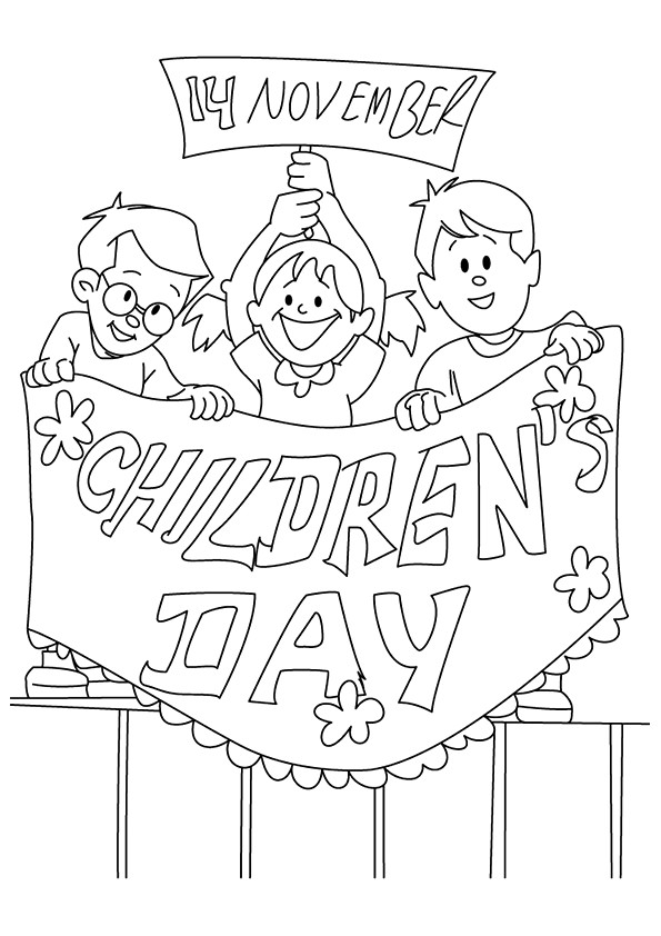 595x842 Happy Children's Day Coloring Page