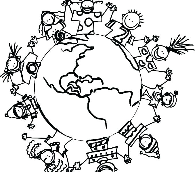 678x600 Children Of The World Coloring Pages Vanda