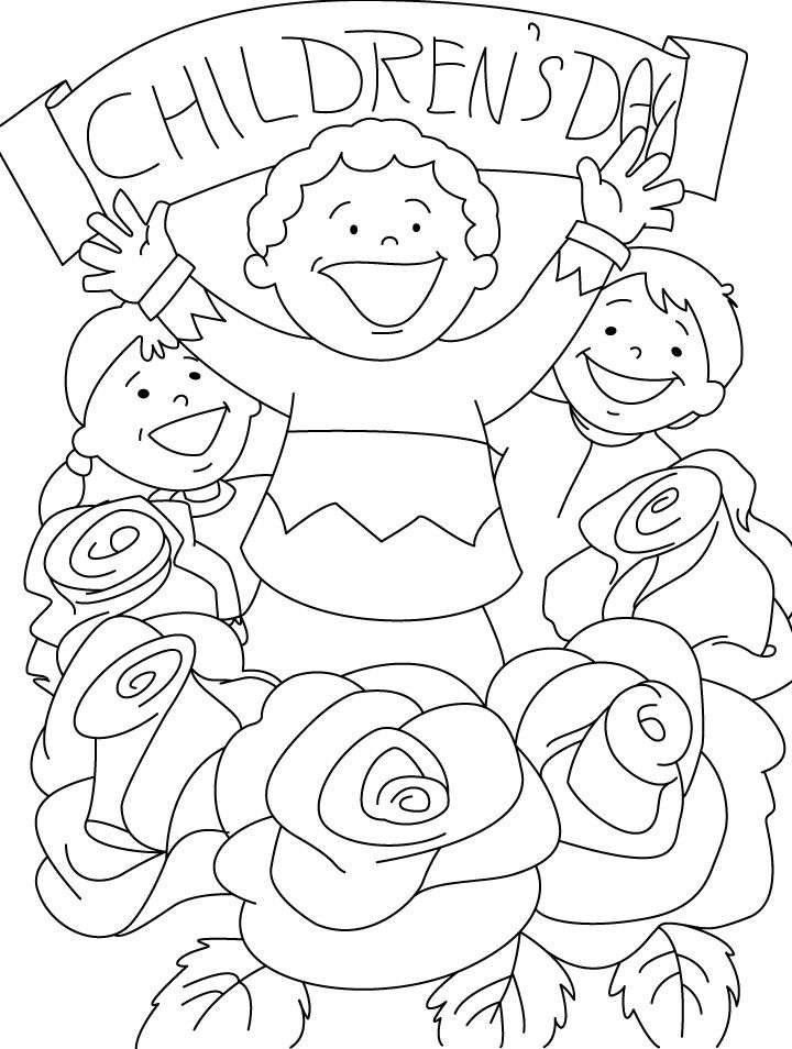 720x954 Childrens Day Coloring Dia Del