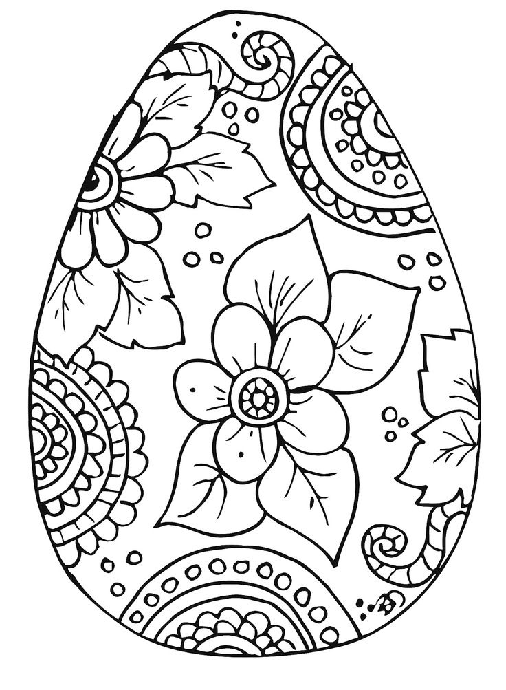 736x1003 Best Spring Coloring Pages Images On Easter Eggs