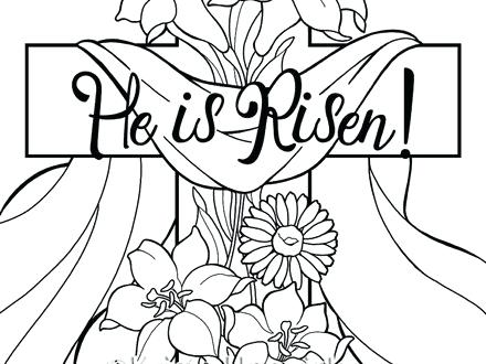 440x330 Easter Coloring Pages For Preschoolers He Is Risen Coloring