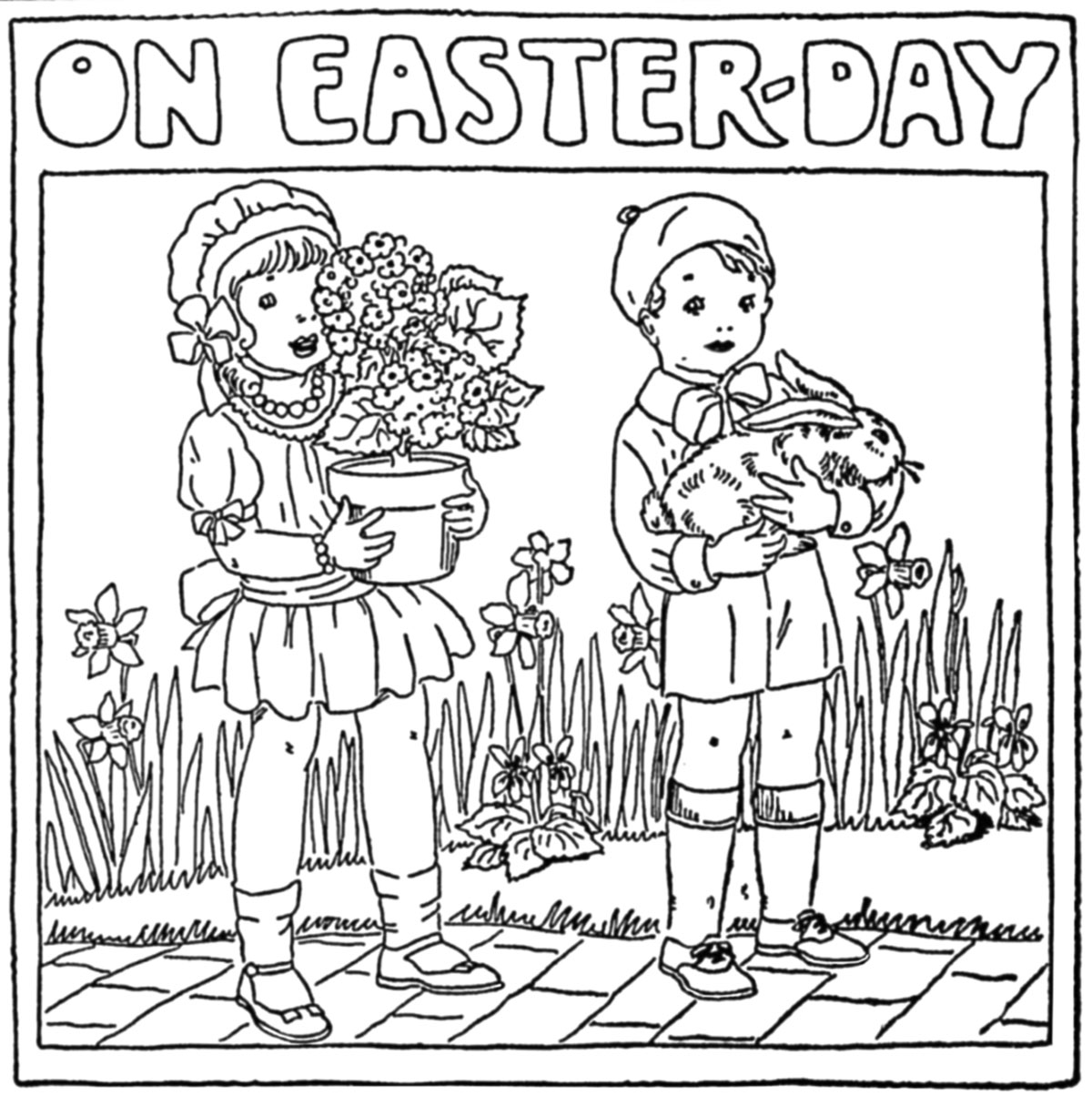 1200x1215 Easter Coloring Pages From Newspapers Q Is For Quilter
