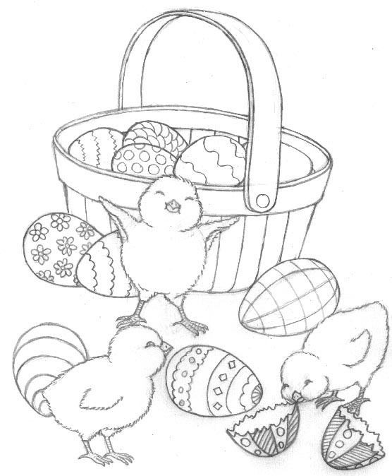 556x674 Free Easter Chicks Preschool Coloring Pages Free Printable