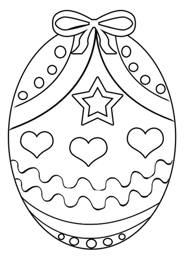 600x850 Free Printable Easter Egg Coloring Pages For Kids