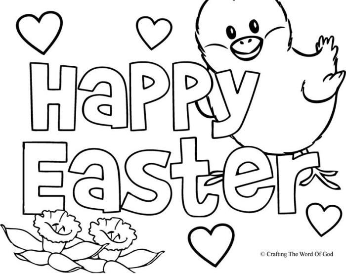 700x554 Happy Easter Coloring Page Crafting The Word Of God