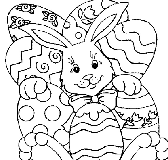 570x543 Projects Design Easter Coloring Pages To Print Kids