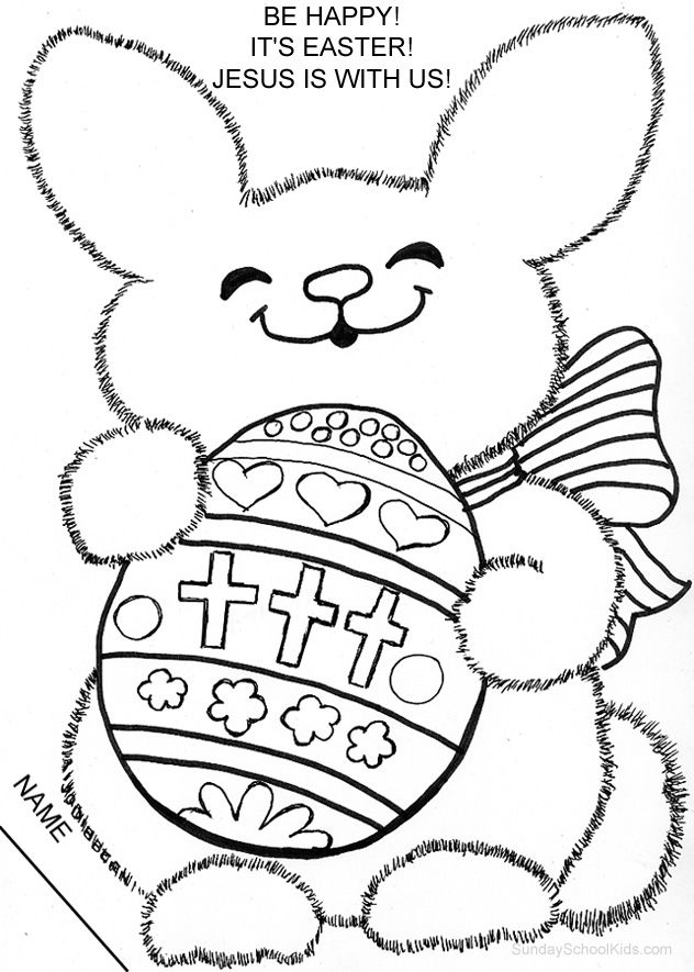632x885 Catholic Easter Bunny Coloring Page Children's Church