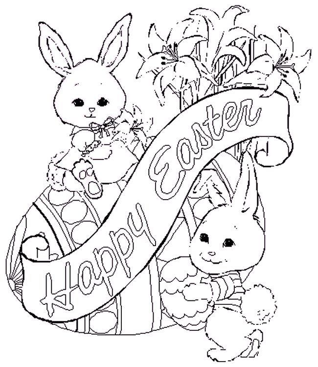 650x750 Children's Easter Coloring Sheets Merry Christmas And Happy New